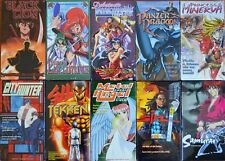 Wholesale Lot of 10 Anime VHS VIdeo Motion Picture Movies OVA Tekken Black Lion