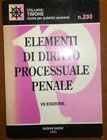 Elementi di diritto processuale penale- AA.VV. . Simone - 1993 - M