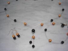 Collane e pendagli di bigiotteria perle arancione