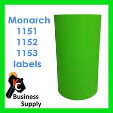 Monarch Paxar 1151 1152 1153 Green labels - 1 sleeve = 6 rolls 1175 1176 1177
