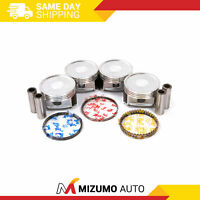 Pistons w/ Rings @STD fit 04-11 Mitsubishi Outlander Eclipse Lancer 2.4 4G69