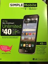 NEW SIMPLE Mobile LG Grace 4G LTE 8GB Cell Phone Black