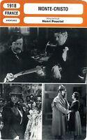 Fiche Cinéma. Movie Card. Monte-Cristo (France) Henri Pouctal 1918