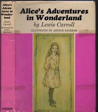 LEWIS CARROLL ALICE'S ADVENTURES IN WONDERLAND Illustrations ARTHUR RACKHAM 1972
