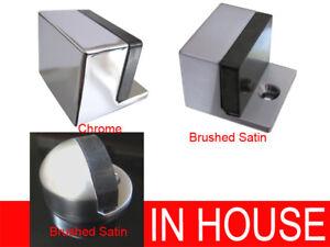 Floor mounted door stops stoppers catchers Chrome Brushed Satin 4141 4430