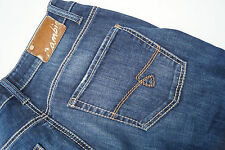 CAMBIO piper easy kick Damen Jeans Hose stretch Gr.36 stone wash darkblue TOP#26