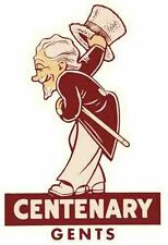 Centenary College Gents  - University  Vintage-Looking Travel Decal  Sticker