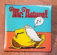 """Mr. Natural Robert Crumb """"SQUARE"""" Lapel Pin"""