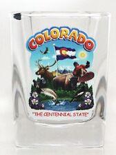 COLORADO STATE MONTAGE SQUARE SHOT GLASS SHOTGLASS