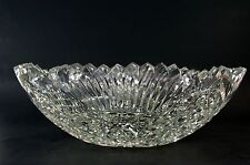 Beautiful Vintage Cut Crystal Glass Centerpiece Bowl Artist Signed