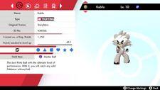 Non Shiny 6IV Jolly Inner Focus Kubfu Pokemon Sword/Shield Switch + Master Ball