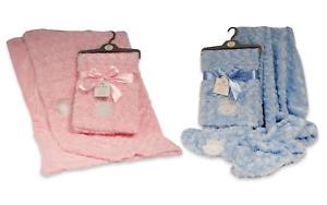 Baby Boys Girls Spanish Style Romany Princess Prince Rosebud Fleece Wrap Blanket