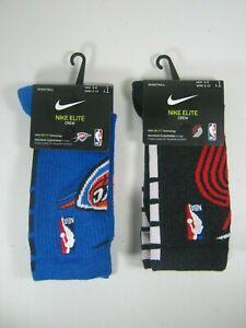 Nike NBA Basketball Elite Crew Socks Assorted NBA Teams Size Medium