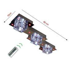 Deckenleuchte Lampe Leuchte mit Fernbedienung LED Farbwechsel Metall Echtglas