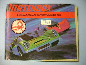 1971 GERMAN MATCHBOX SUPERFAST SAMMLER KATALOG DEUTSCHE AUSGABE