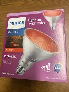 (4-Pack) Philips 90-Watt Equivalent PAR 38 LED Flood Red 469106