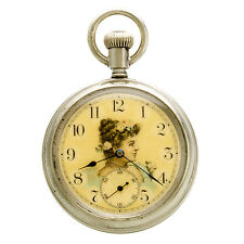 NEW ENGLAND WATCH CO. POCKET WATCH SCARCE PAINTED DIAL DUPLEX ESCAPEMENT CA1901