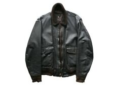 1980s G-1 Pilot Aircrew Leather Flying Jacket 44 Large Protech United States