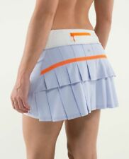 Lululemon Pace Setter Skirt Skort Cool Breeze Nimbus Lavender + Orange Sz 4 Tall