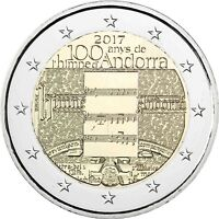 Andorra 2 Euro 100 Jahre Nationalhymne 2017 Stempelglanz in CoinCard
