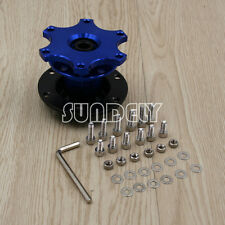 Car Blue Steering Wheel Quick Release HUB Racing Adapter Snap Off Boss Kit FAST