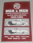 Workshop Manual Repair Manual MG A+ MG B + Gt, Year of Construction 1955 - 1968