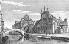 SAN GIOVANNI E PAOLO. Scuola Di Rocco; Colleoni 1880 old antique print picture