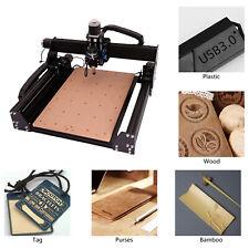 3 Axis Woodworking Engraving Machine Desktop Laser Engraving Cutting 400x598mm