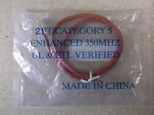 NEW Enhanced Cat 5 Cable Red 2 Ft DCA7276RD 4057 E190560 350 MHZ