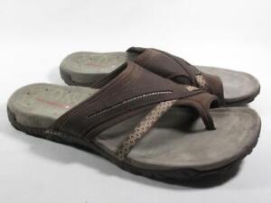 Merrell Terran Toe Loop Slide Sandal Women size 10 Brown