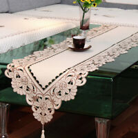 Vintage Embroiderd Table Runner Tablecloth Cover Home Party Table Decor 15x59in
