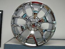 Set (4) 20x9 GMC 1500 Sierra Chrome Denali Tahoe Chevy Silverado Wheels