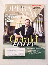 Opera News Magazine Gerald Finley October 2016 111916RH