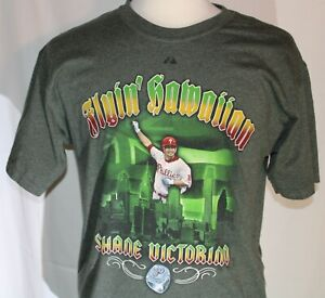 Phillies Shane Victorino Flyin' Hawaiian Majestic Graphic T-shirt Size L