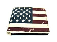 Montana West Men's Bi-fold Wallet Genuine Tooled Leather Western US Flag Wallet