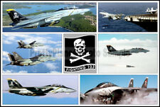 USN F-14 Tomcat VF-103 Jolly Rogers Photo Collage