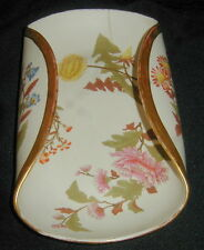 1888 ROYAL WORCESTER ENGLISH PORCELAIN HAND PAINTED BASKET, BLUSH IVORY, UNUSUAL