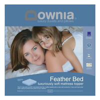 DOWNIA Luxury Duck Feather and Down Pillowtop Mattress Topper QUEEN SIZE Bed NEW