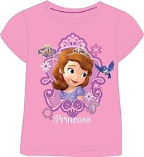 Girls SOFIA THE 1st OFFICIAL 100% Cotton BLUE T-Shirt AGE 18mths-6yrs years