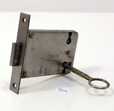 Serratura antica a incasso per mobili funzionante con chiave a54
