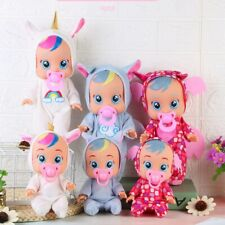 3D Dolls Figure Action Toy SILICONE BODY Crying Tear Unicorn Baby Surprise Gifts
