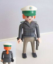 PLAYMOBIL (K2123) POLICE - Femme Officier Tenue Grise Commisariat 3159 3954
