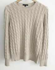 Gap Tan / Cream Cable Knit Crew Neck Sweater-Size Womans Large