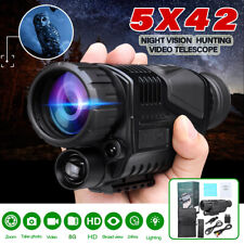5x40 Infrared IR Night Vision Hunting Monocular Telescope Digital Video