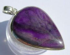 Beautiful Sugilite 925 Sterling Silver Pendant Jewelry 39x21mm 7.6 grams