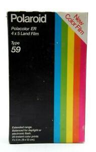 Polaroid Type 59 Polacolor ER 4x5 Color Land Film (20 Prints) #31564