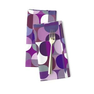 Midcentury Modern Abstract Graphic Cotton Dinner Napkins by Roostery Set of 2