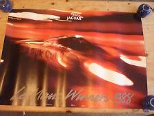 Jaguar le mans victoria 1988 Original Cartel Oficial