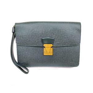 Louis Vuitton LV Clutch Bag M30194 Kourad Greens Taiga 1526404