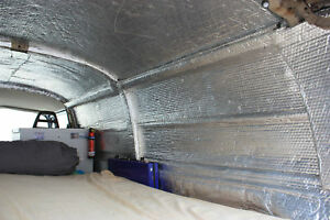 Camper Van insulation, double foil 8.4m(L) roll Off Cuts, Sellotaped Free UK P&P
